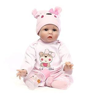 RENYAYA 55 Centimetri Realistico Reborn Bambole Bambino Realistico Bambini Fatti a Mano per i Bambini Giocattoli Reborn Bambola per Toddler Ragazzi Ragazze Compleanno Regalo