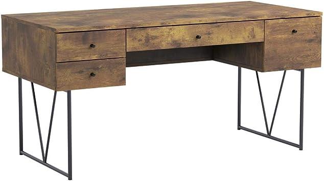 Amazon Com Analiese 4 Drawer Writing Desk Antique Nutmeg And