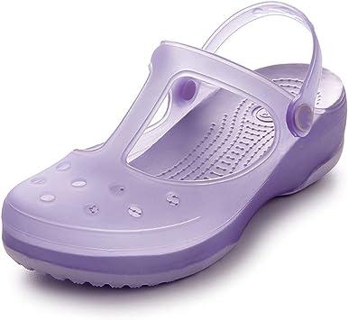 Zuecos Mujer, Sandalias de Playa Antideslizante Respirable Piscina Jardín Zapatos Ultraligero Zapatillas Verano Jardín Fuera: Amazon.es: Deportes y aire libre