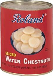 Roland Water Chestnuts , Sliced, 102-Ounce