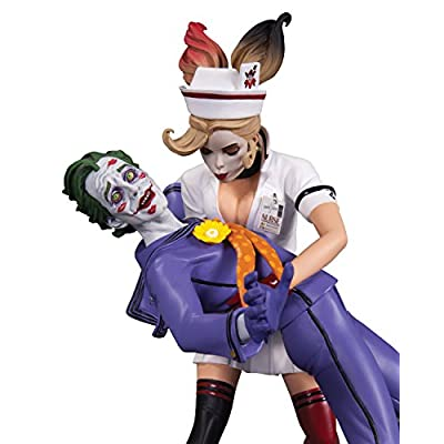 DC Collectibles DC Comics Bombshells: The Joker & Harley Quinn Second Edition Statue: Toy: Toys & Games