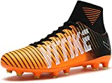 Littleplum Kids Soccer Cleats Shoes Football Boots Cleats High-top Sock Shock Buffer Outdoor(Little Kid/Big Kid)