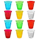 Rink Drink Plastic Drinking Tumblers - 250ml (8.8oz) - Gift Box of 12