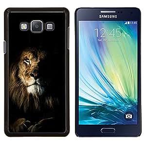 Dragon Case - FOR Samsung Galaxy A7 - lion black nature mane roar king cat - Caja protectora de pl??stico duro de la cubierta Dise?¡Ào Slim Fit