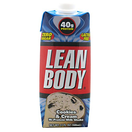 Labrada Nutrition Lean Body RTD, 12 - 17 fl oz (500) ml shakes, Cookies & Cream by Labrada