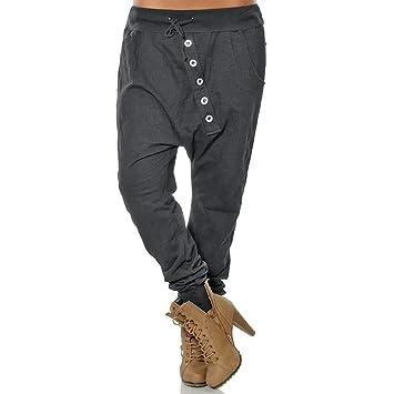 Pantalones Anchos Mujeres SUNNSEAN Pantalones de Moda Harem ...