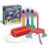 Geospace Jump Rocket LED Night Shotz - Jump Pump, Launcher & Light-Up Flying Foam Rockets