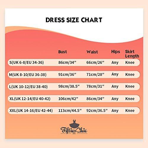 FiftiesChic Womens 100/% Cotton Sleeveless Coloured Seam 50s Inspired Vintage Rockabilly Party Dresses
