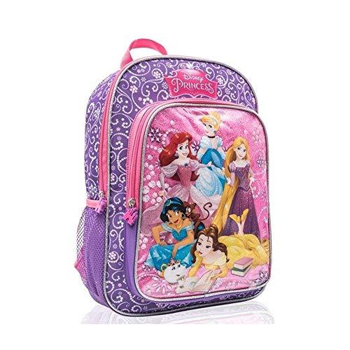 Disney Princess Full Size Bag School Backpack for Kids - 15 Inch [Purple]