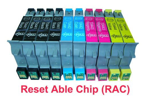 10 Pack (4BK 2C 2M 2Y) US Patented Compatible Cartridge T044 T044120-T044420 for EPSON Stylus C64,C66,C84,C86,CX4600,CX6400,CX6600, These cartridges have Reset-Able Chip (RAC)., Office Central