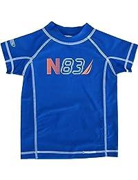 """Nautica Baby Boys Royal Blue """"N83"""" Print Rash Guard Swim Shirt 12-24M"""