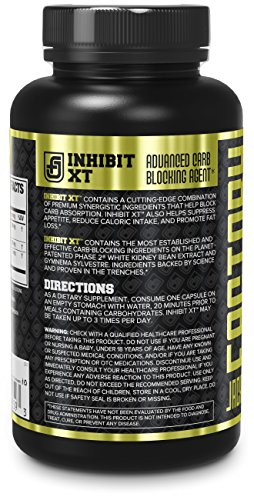 Carb Blocker for Weight Loss INHIBIT XT | Phase 2 White Kidney Bean & Gymnema Extract | Helps Block Carb Absorption to Promote Fat Loss, 60 Natural Veggie Diet Pills