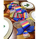 (Handmade) Mexican Serape Table Runner,Serape Decoration,Modern Rustic Home Decor, Holiday Table Runner Decoration,Wedding Table Runner Decoration, Table Center Piece: 2 1/2 FT x 11 inches
