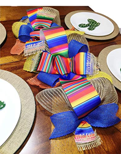 - (Handmade) Mexican Serape Table Runner,Serape Decoration,Modern Rustic Home Decor, Holiday Table Runner Decoration,Wedding Table Runner Decoration, Table Center Piece: 2 1/2 FT x 11 inches