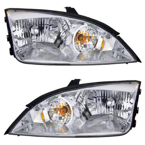 Svt Focus Headlights - 05-07 Focus ZX4 Headlight Headlamp Halogen Head Light Left & Right Side Set PAIR