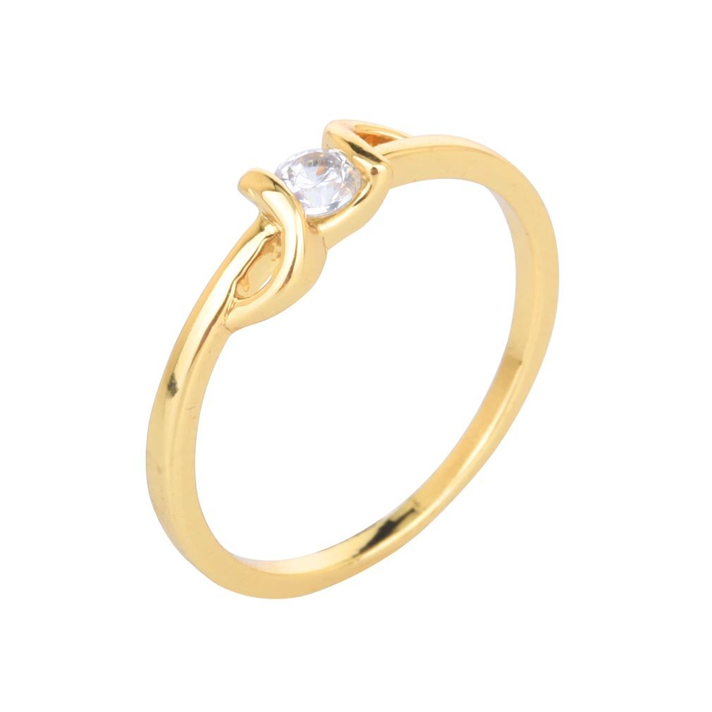YAZILIND Solitaire Ring Beautiful Bride Selection 18K Gold Plated New for Women Size 5.25 YAZILIND JEWELRY LIMITED 1076R0279