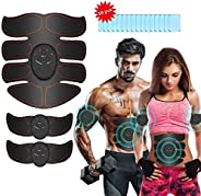 Abs Stimulator Muscle Toner, iThrough Muscle Stimulator Abdominal Muscle Trainer Ab Maker for Men and Women,El
