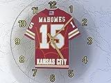 FanPlastic Patrick 'Showtime' MAHOMES II 15 Kansas City Chiefs Wall Clock - National Football League Legends Edition !!