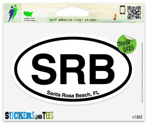 SRB Santa Rosa Beach Florida Oval Vinyl Car Bumper Window Sticker 5