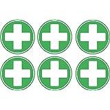 Autocollant sticker croix premier secours urgence boite trousse macbook