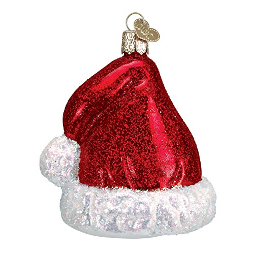 Old World Christmas Santa's Hat Glass Blown Ornament