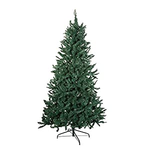 Kurt Adler TR2326 7' Pine Christmas Tree with 1026 Tips, 50-Inch Girth with Metal Base 108