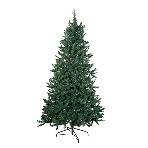 Kurt Adler TR2326 7' Pine Christmas Tree with 1026 Tips, 50-Inch Girth with Metal Base ()
