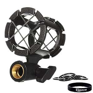 Eggsnow Microphone Shockmount Universal Holder Clip Anti Vibration for AKG D230, Senheisser ME66, Rode NTG-2,NTG-1,Audio-Technica AT-875R