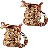 (Set of 2) Rattlesnake Coffee Mugs - The Craig Ferguson Show Ceramic Cups