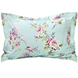 FADFAY Blue Hydrangea Floral Decorative Pillowcase 100% Cotton Pillow Covers,Standard size 2 Pcs