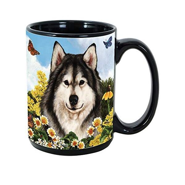 Imprints Plus Dog Breeds (A-D) Alaskan Malamute 15-oz Coffee Mug Bundle with Non-Negotiable K-Nine Cash (alaskan malamute 009) 1