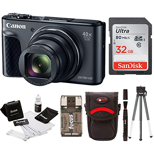 Canon Powershot SX730 Digital Camera Bundle (SX730 32GB, Black) by Canon