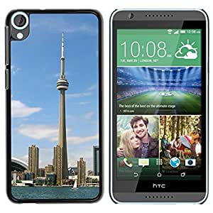 Graphic4You Toronto CN Tower Canada Postcard Design Hard Case Cover for HTC Desire 820 by icecream design