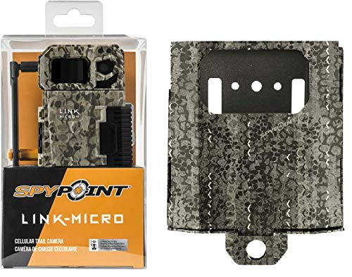 SPYPOINT Link-Micro-V Cellular MMS Trail Camera 4G/LTE (VERIZON) HD Video with SB-300 Lock Box and Free 2 Year Warranty Deluxe Trail Cam Package (4G Camera, Steel Lock Box) (Best Trail Camera Warranty)