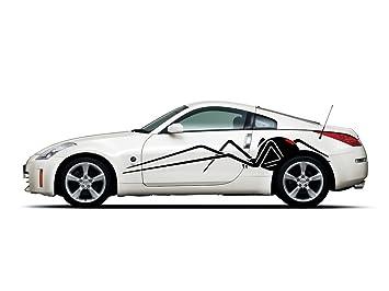 Amazoncom Picniva Black Widow Spider Racing Car Body Side - Racing car decals design