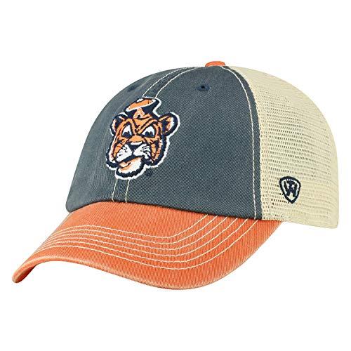Top of the World Auburn Tigers Tow Navy Orange Offroad Retro Vault Logo Mesh Adj Hat Cap
