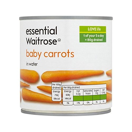 Baby Carrots essential Waitrose 400g - Pack of 4