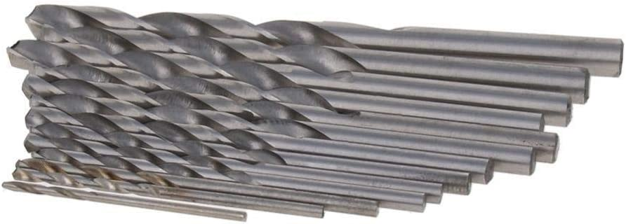 1set/2set Spiral Twist Drill Bit Set Straight Shank Titanium/Nickel Coated HSS 13-piece/19-piece Set to Cut Through Hard Metals (Color : Size4 x1set) Size1 X1set