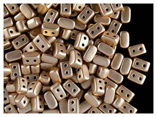 50pcs IOSpar Puca Beads, Light Gold Mat