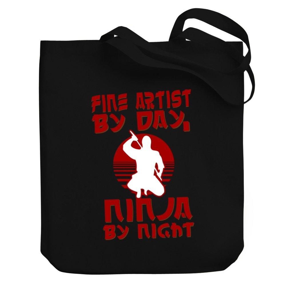 Teeburon Fine Artist by day, ninja by night Canvas Tote Bag