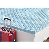 Simmons Beautyrest Comforpedic Loft from Beautyrest 3-inch Big Loft Gel Memory Foam Mattress Topper Teal King