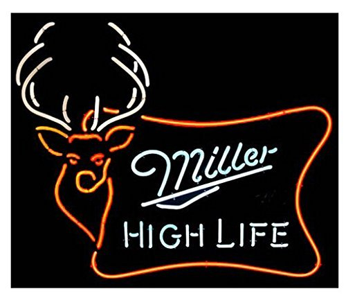 Urby miller high life buck real glass neon light sign home beer bar urbytrade miller high life buck real glass neon light sign home beer bar pub recreation aloadofball Images