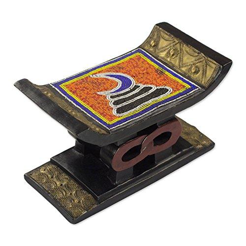 NOVICA Decorative Aluminum Stools, Multicolor, Adinkra for sale  Delivered anywhere in USA
