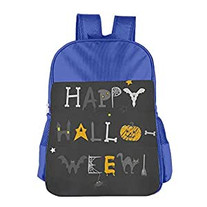 Kids School Bag Happy Halloween Double Shoulder Backpacks Travel Gear Daypack Gift
