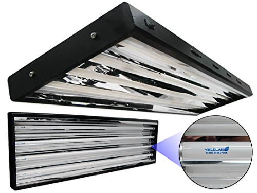 Half Equipment Panel (Yield Lab 54w T5 Four Bulb Fluorescent Grow Light Panel (2700K) – Hydroponic, Aeroponic, Horticulture Growing Equipment)