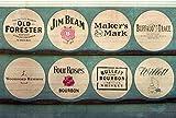 Wood Wall Art Photography - Bourbon Themed Decor: Kentucky Bourbon Barrel Lids 11''x17''