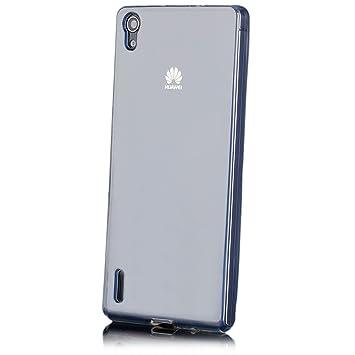 Huawei Ascend P7 | iCues transparente TPU Claro | Transparente lámina protectora caso de la piel Claro Claro gel de silicona transparente de ...
