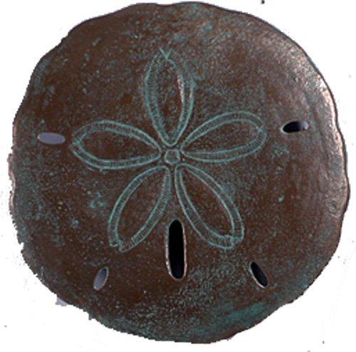 Nautical Tropical Imports 13.5 Inch One Medium Sand Dollar Verde Bronze Finish Wall - Verde Finish Bronze