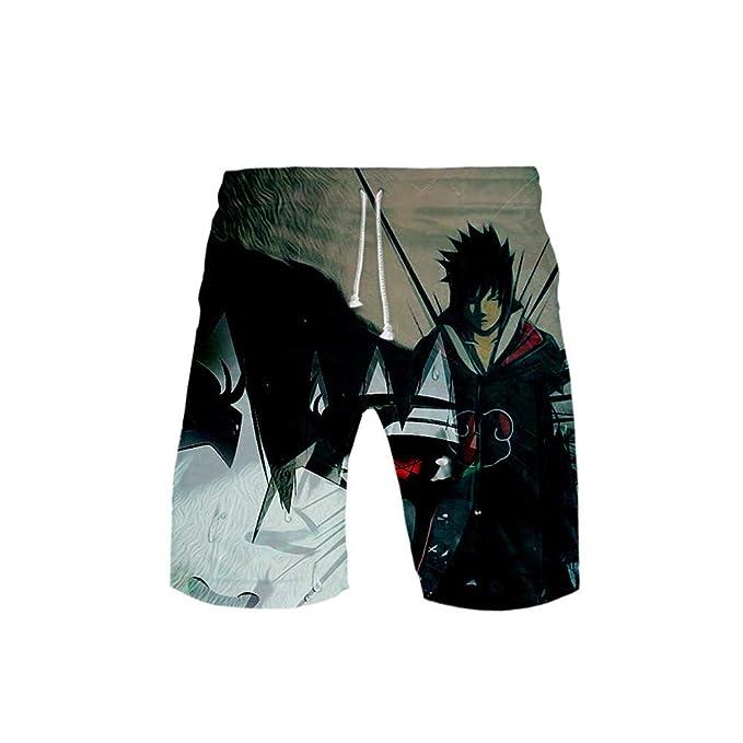 TSHIMEN Pantalones Cortos Hombre Element Naruto Anime ...