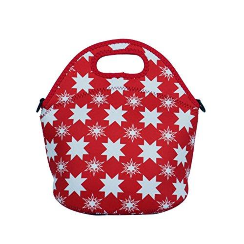 Yipinu Neoprene Lunch Box Handbag Tote Lunch Bag Cool Bag Cooler